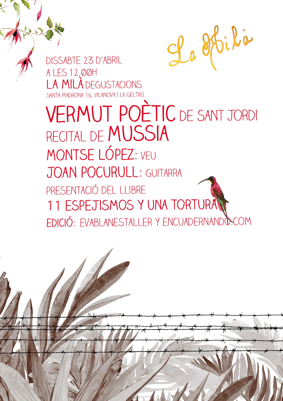 Vermut Poètic Mussia cartell la Milà